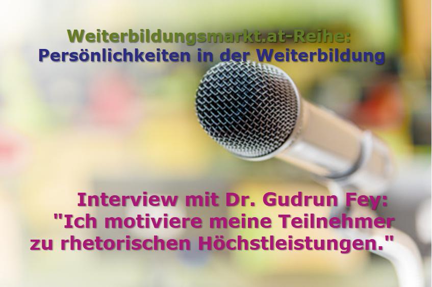 """Dr. Gudrun Fey: """"Ich motiviere meine Teilnehmer zu rhetorischen und dialektischen Höchstleistungen."""""""